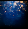 blurred bokeh light on dark blue background vector image vector image