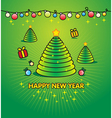 Christmas green background - for Xmas invitation vector image