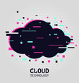 cloud technology background streaming service vector image vector image