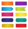 Colorful Labels Tags Banners Design vector image vector image