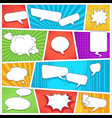 comics book background template speech bubbles and vector image