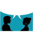 couple people talking vector image vector image