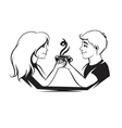 couple with coffee vector image