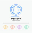data global internet network web 5 color line web vector image