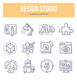 Design Studio Doodle Icons vector image vector image