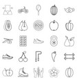 dietary icons set outline style vector image vector image