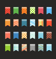 different color flags collection vector image