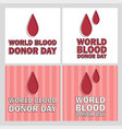 donate blood concept with vector image vector image