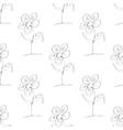 Doodle flower pattern vector image
