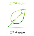 ecology logo or icon in eps nature logotype with vector image vector image