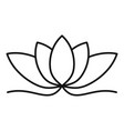 fashion lotus icon outline style vector image vector image