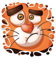 funny cute crazy tiger character vector image vector image