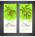 Hand-Drawing Olives vector image vector image