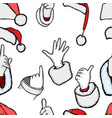 hands of santa claus vector image vector image