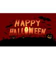 Happy Halloween image with pumpkin vector image vector image