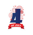 happy usa independence day 4 th july greeting vector image vector image