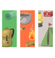 hiking cards camping equipment gear and vector image vector image
