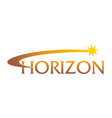 horizon solutions logo design template vector image