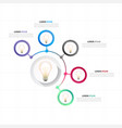 infographic bulb circle design five template vector image vector image