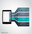 infographic smartphone vector image