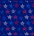 ink hand drawn seamless pattern with stars in vector image vector image