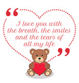 Inspirational love quote I love you with the vector image vector image