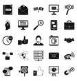 interplay icons set simple style vector image vector image