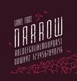 italic narrow sans serif font vector image vector image