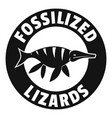 jurassic funny logo simple black style vector image vector image
