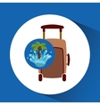 luggage water splash palm summer vacation vector image vector image