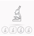 Microscope icon Medical laboratory equipment vector image