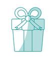 monocromatic gift design vector image vector image