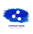 network icon - blue watercolor background vector image