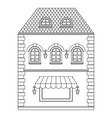 old european house with store on ground floor vector image vector image