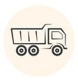 outline dumper icon dump track vector image vector image