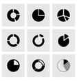 pie chart icon set vector image vector image