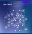 public transport concept in honeycombs vector image vector image