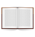 Realistic open book vector image vector image
