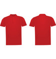 red polo t shirt vector image