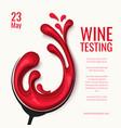 red wine splash in glass paper cut vector image vector image