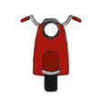 retro scooter motorcycle vector image