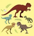 scary dinosaurs tyrannosaurus t-rex danger vector image vector image