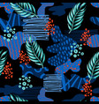 seamless abstract pattern with tropical leaves vector image vector image