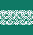seamless leaves pattern green ornament leaves vector image