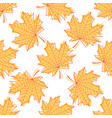 seamless texture from beautiful graceful maple vector image vector image
