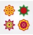 Set of colorful volumetric flowers collection vector image