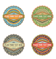 set of retro vintage style logo banner label vector image