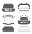 set vintage logo badgeemblem and logotype vector image