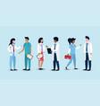 set women and men professional doctors vector image vector image