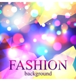 Shining fashion blur bokeh background for beauty vector image vector image